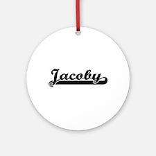 Jacoby Classic Retro Name Design Ornament (Round)