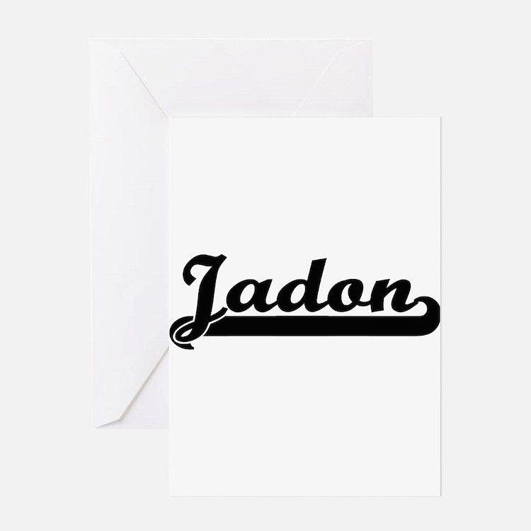 Jadon Classic Retro Name Design Greeting Cards