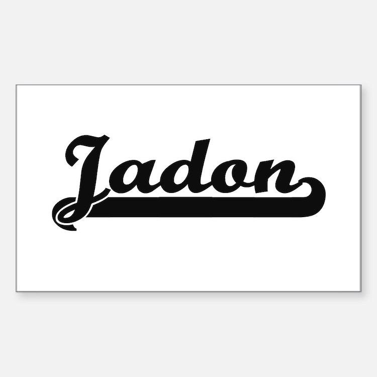 Jadon Classic Retro Name Design Decal