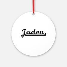 Jadon Classic Retro Name Design Ornament (Round)