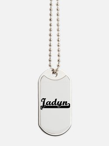 Jadyn Classic Retro Name Design Dog Tags