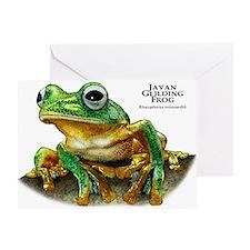 Javan Gliding Frog Greeting Card