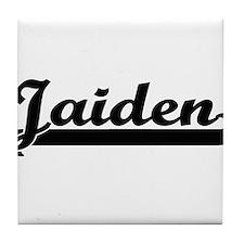 Jaiden Classic Retro Name Design Tile Coaster