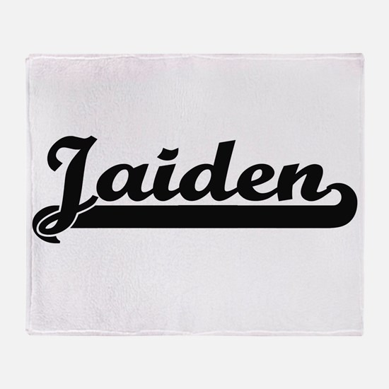 Jaiden Classic Retro Name Design Throw Blanket