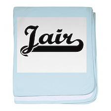 Jair Classic Retro Name Design baby blanket