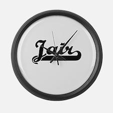 Jair Classic Retro Name Design Large Wall Clock