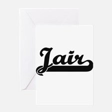 Jair Classic Retro Name Design Greeting Cards
