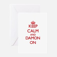 Keep Calm and Damon ON Greeting Cards