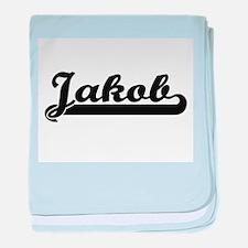 Jakob Classic Retro Name Design baby blanket