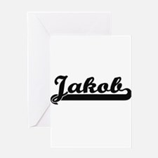 Jakob Classic Retro Name Design Greeting Cards