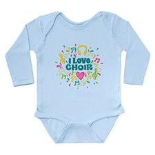 Cute Chorus Long Sleeve Infant Bodysuit