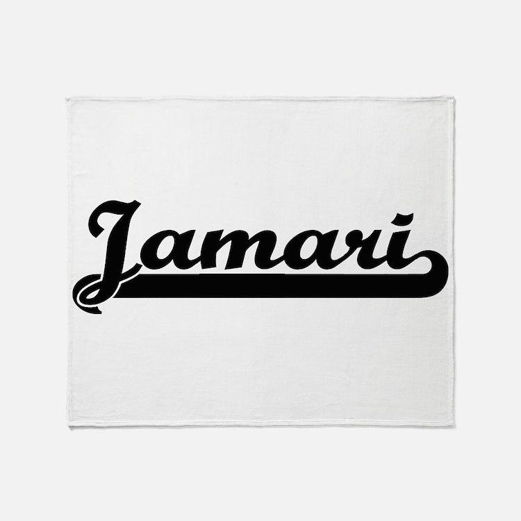 Jamari Classic Retro Name Design Throw Blanket
