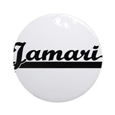 Jamari Classic Retro Name Design Ornament (Round)