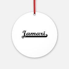 Jamari Classic Retro Name Design Ornament (Round)