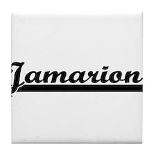 Jamarion Classic Retro Name Design Tile Coaster