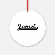 Jamel Classic Retro Name Design Ornament (Round)