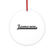 Jameson Classic Retro Name Design Ornament (Round)