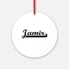 Jamir Classic Retro Name Design Ornament (Round)