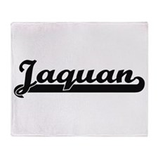 Jaquan Classic Retro Name Design Throw Blanket