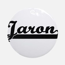 Jaron Classic Retro Name Design Ornament (Round)