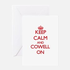 Keep Calm and Cowell ON Greeting Cards