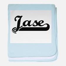 Jase Classic Retro Name Design baby blanket
