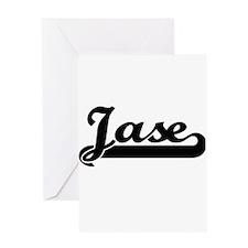 Jase Classic Retro Name Design Greeting Cards