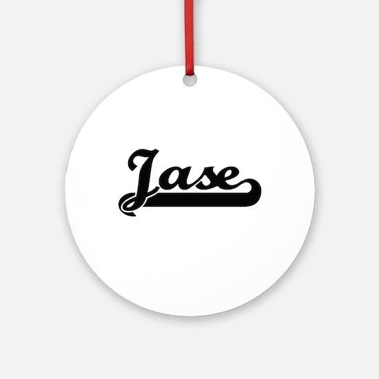 Jase Classic Retro Name Design Ornament (Round)