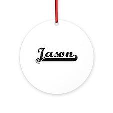 Jason Classic Retro Name Design Ornament (Round)