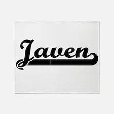 Javen Classic Retro Name Design Throw Blanket