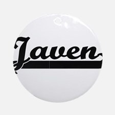 Javen Classic Retro Name Design Ornament (Round)