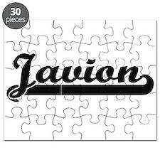 Javion Classic Retro Name Design Puzzle