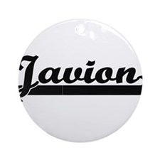 Javion Classic Retro Name Design Ornament (Round)