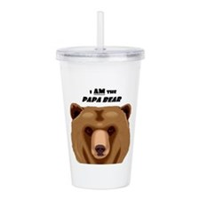 I Am the Papa Bear Acrylic Double-wall Tumbler