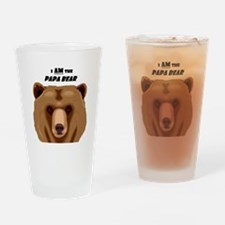 I Am the Papa Bear Drinking Glass