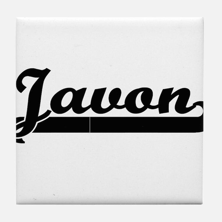 Javon Classic Retro Name Design Tile Coaster