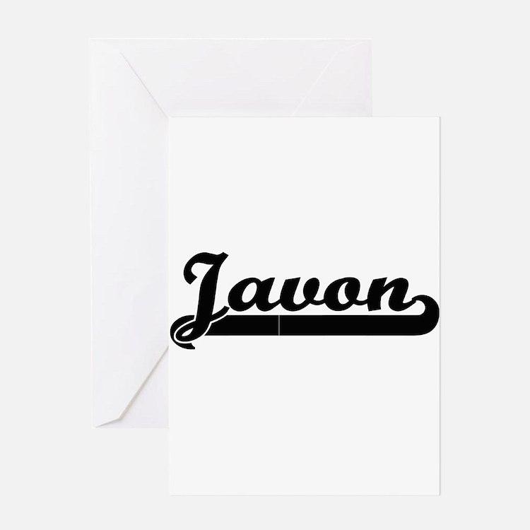 Javon Classic Retro Name Design Greeting Cards