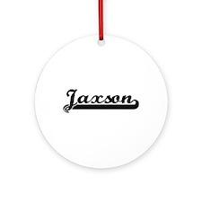 Jaxson Classic Retro Name Design Ornament (Round)