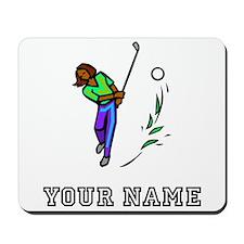Woman Golfer (Add Name) Mousepad