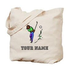 Woman Golfer (Add Name) Tote Bag