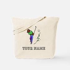 Woman Golfer (Add Name) Tote Bag