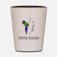Woman Golfer (Add Name) Shot Glass