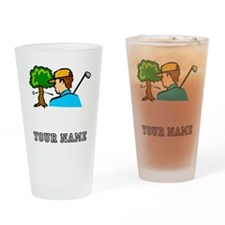 Golf Ball Hitting Tree (Add Name) Drinking Glass