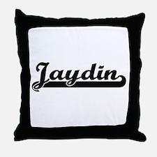 Jaydin Classic Retro Name Design Throw Pillow