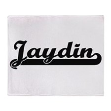 Jaydin Classic Retro Name Design Throw Blanket