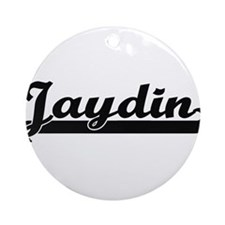 Jaydin Classic Retro Name Design Ornament (Round)