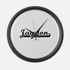 Jaydon Classic Retro Name Design Large Wall Clock