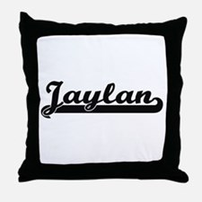 Jaylan Classic Retro Name Design Throw Pillow