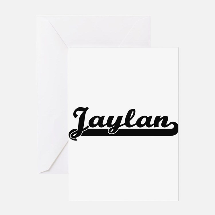Jaylan Classic Retro Name Design Greeting Cards
