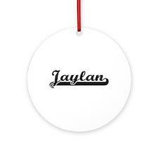 Jaylan Classic Retro Name Design Ornament (Round)